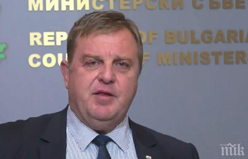 Вицепремиерът Каракачанов не очаква мигрански натиск от ситуацията в Сирия