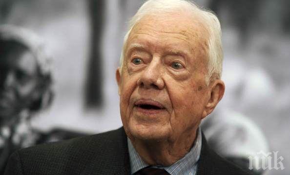 Джими Картър в болница, счупил таза си
