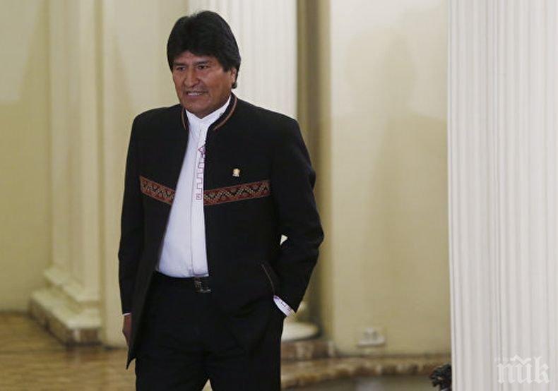 Ево Моралес води на президентските избори в Боливия - ще има втори тур