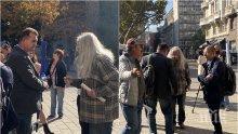 """Подсъдимият от """"Боец"""", Кольо Босия и още 10 на митинг пред президентството срещу Гешев (СНИМКИ)"""