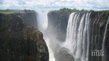 МЕГА КРИЗА: Водопадът Виктория пресъхва, слоновете умират