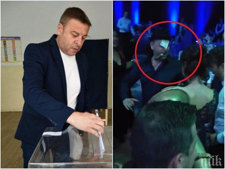 ГОРЕЩО В ПИК: Ето ВИДЕОТО, което взе главата на кмета на Благоевград - Камбитов и Цветанов друсат кючеци на мощна чалга