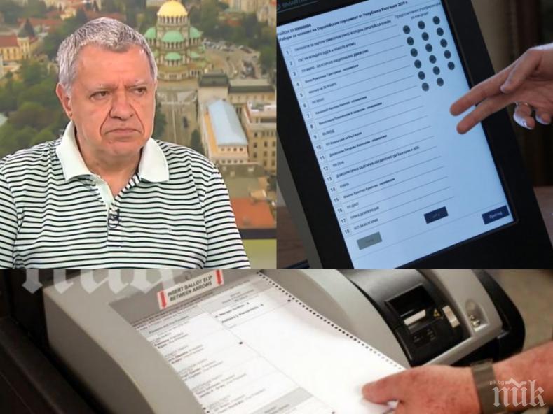 ЕКСПЕРТНО! Проф. Михаил Константинов със звучен шамар за машинното гласуване