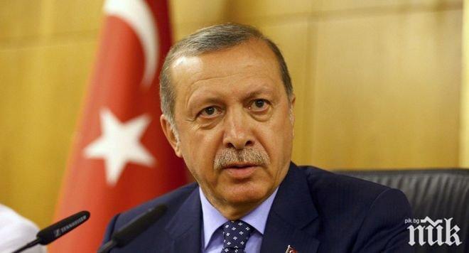 Ердоган: Турция ще се бори докрай с тероризма в Северна Сирия