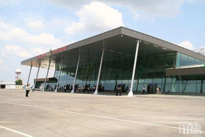 КРИЗА: Летище Пловдив продължава да е на червено