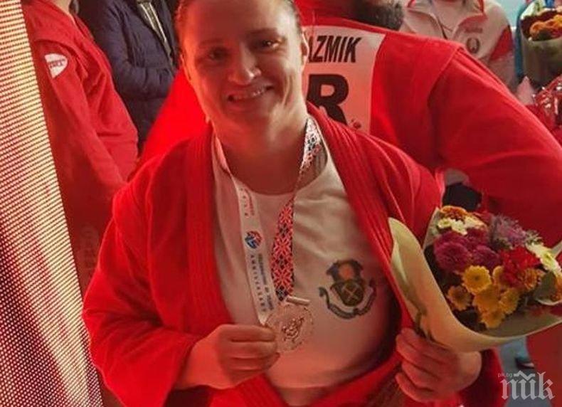 Браво! Мария Оряшкова с пета световна титла в самбото