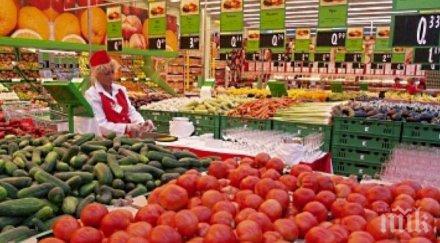 Цените на едро на храните у нас бележат ръст с 5,65 процента за две седмици