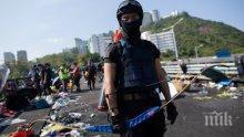 В Хонконг простреляха полицай със стрела