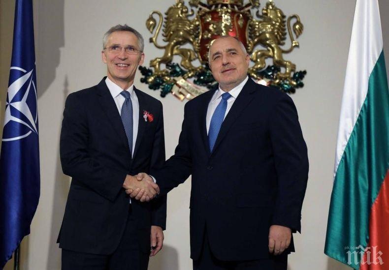 Борисов разговаря със Столтенберг преди Срещата на върха между държавните и правителствени ръководители на страните членки от НАТО