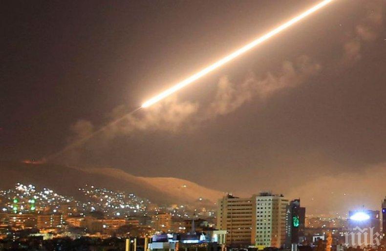 Израелските военни са прихванали четири ракети, изстреляни от страната на Сирия