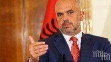 Премиерът на Албания благодари на региона за помощта