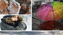 ОПАСНО ВРЕМЕ: Идват студ, дъжд и сняг. Жълт код за 17 области в страната (КАРТИ)