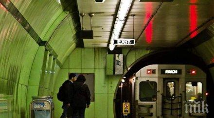 Пожар в метрото: Евакуираха влак в Торонто
