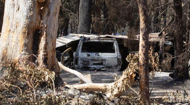 Пострадали от пожарите в Австралия занесоха останки от къщи на депутатите