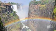 УЖАС: Водопадът Виктория пресъхна (ВИДЕО)