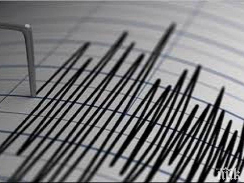 Земетресение с магнитуд 4.5 по Рихтер бе регистрирано в Китай