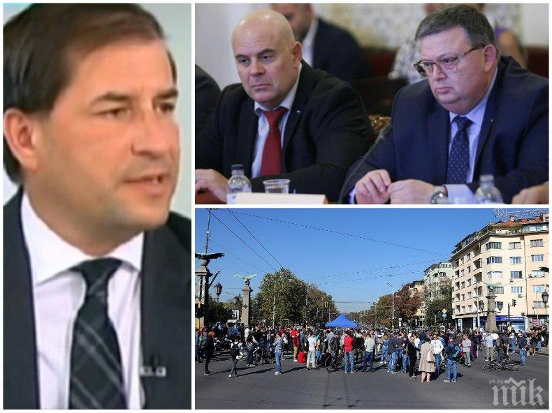 Борислав Цеков се подигра на жълтопаветните протестъри: Гешев вече е главен прокурор, а Цацаров шеф на КПКОНПИ - трагедията на редовия соросоид