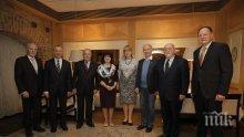 Цвета Караянчева събра бившите председатели на парламента в навечерието на Коледа