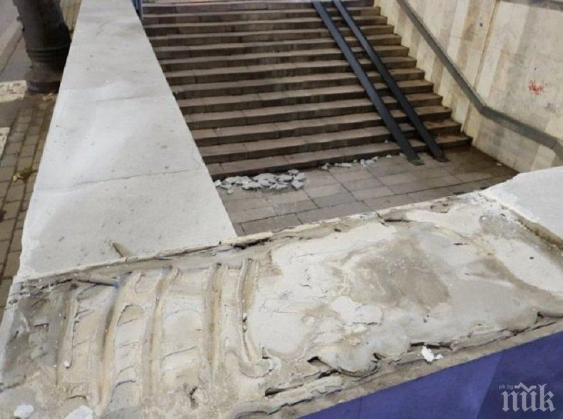Тежък инцидент се размина по чудо в централния подлез на Варна