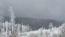 Жълт код за студ и снежни виелици в 8 области утре
