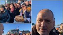 ПЪРВО В ПИК TV: Премиерът Борисов в Бургас след шега с президентшата Деси Радева - посрещнаха го с питка, гайди и сурвачки край Поморие (ОБНОВЕНА/СНИМКИ)