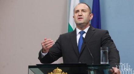 Радев погреба България с траурно слово навръх Нова година