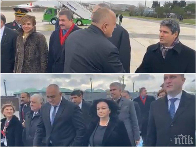 """ПЪРВО В ПИК TV: Премиерът Борисов пристигна за откриването на """"Турски поток"""" в Истанбул (ОБНОВЕНА/СНИМКИ)"""