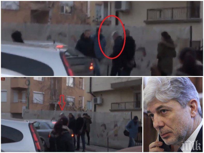 БОМБА В ПИК TV! Вижте как отвеждат Нено Димов с полицейска кола от дома му след обиска, отива в Следствието (ВИДЕО/СНИМКИ/ОБНОВЕНА)
