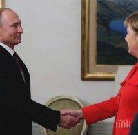 Путин и Меркел ще обсъдят