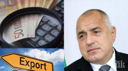 ПЪРВО В ПИК: Борисов с добри новини за икономиката! Данните за износа са отлични
