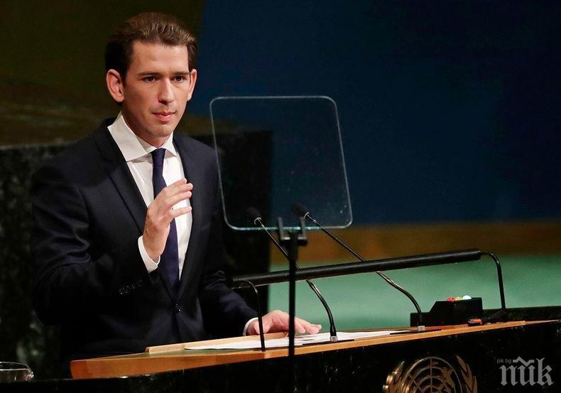 Прокуратурата погна Себастиан Курц след обвинения в корупция срещу опозицията