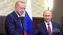Путин се среща с Ердоган в Берлин
