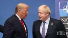 Борис Джонсън стартира търговски преговори с Доналд Тръмп веднага след излизането на Великобритания от ЕС