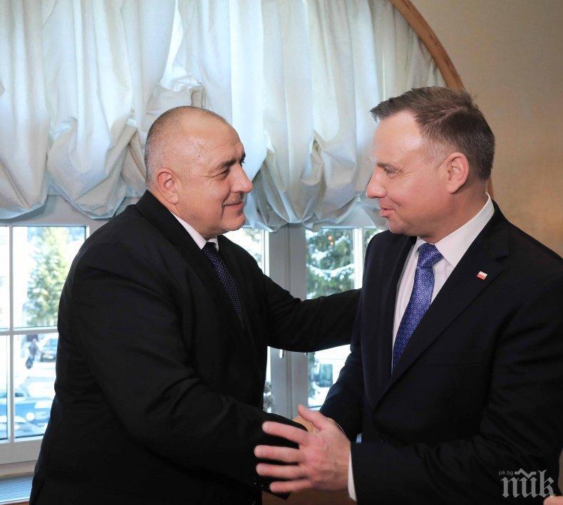 ИЗВЪНРЕДНО В ПИК! Премиерът Бойко Борисов разговаря с президента на Полша Анджей Дуда в Давос
