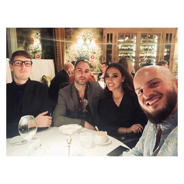 Мария Илиева с трима мъже в Мадрид