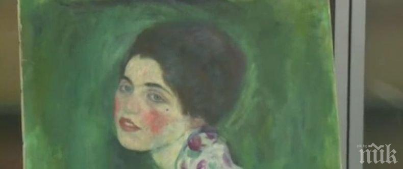 Откриха открадната картина на Густав Климт в стена на галерия в Италия