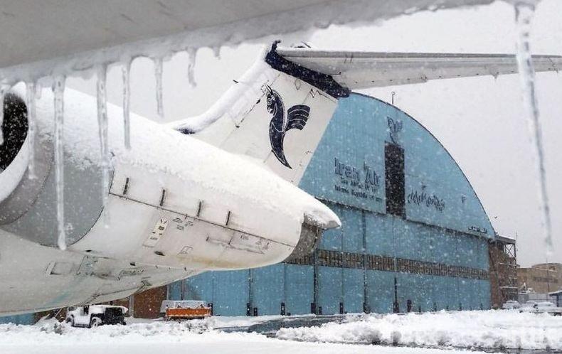 Силен снеговалеж доведе до отмяна на полетите в Техеран