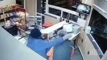 Ето кой е мъжът с противогаза, обрал бензиностанция (ВИДЕО/СНИМКИ)