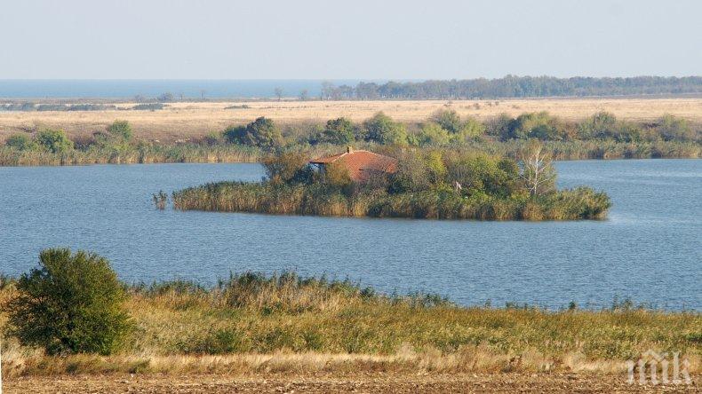 Пожар горя на територията на Дуранкулашкото езеро