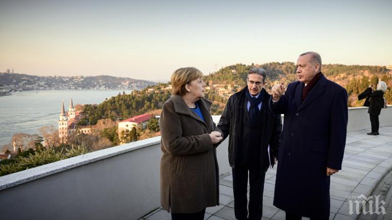 Ердоган обяви пред Меркел: 400 000 бежанци от Сирия се насочват към Турция