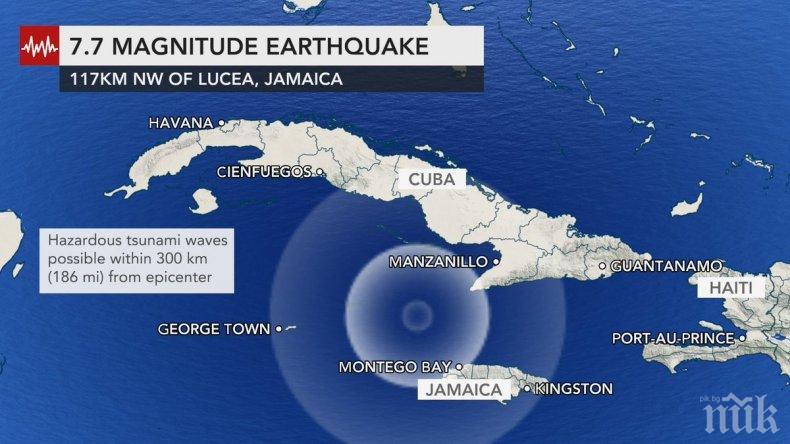 Адско земетресение от 7,7 удари Карибите, очакват цунами (ВИДЕО)