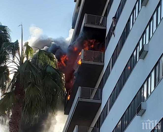 ЕКСКЛУЗИВНО! Пожар пламна в сградата на българското консулство в Лос Анджелис (СНИМКИ/ВИДЕО)