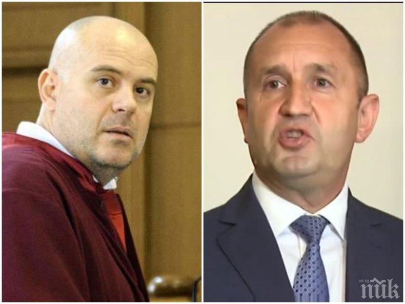 ОФИЦИАЛНО ОТ ПРОКУРАТУРАТА: Главният прокурор преустановява контакти с президентството - Гешев ще приема само писмена кореспонденция