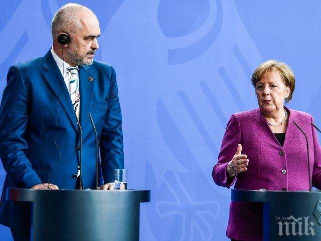 ПРЕГОВОРИ ПРЕЗ МАРТ: Меркел поиска Албания и Северна Македония в ЕС