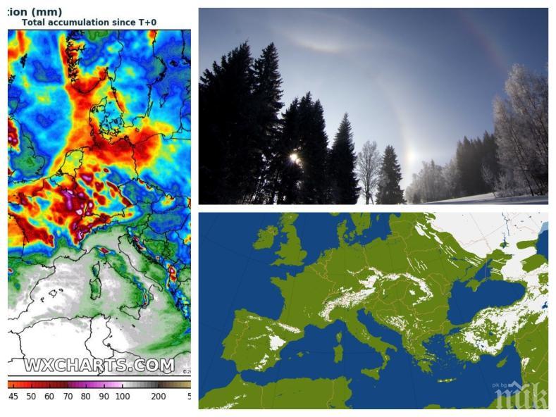 """ВРЕМЕТО ПОЛУДЯ: Големият зимен сценарий се провали! Започва """"турбулентна пролет"""""""