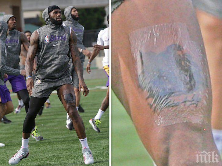 ЛеБрон си направи татуировка в памет на Коби Брайънт