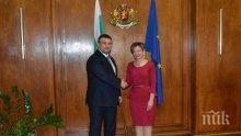 Младен Маринов се срещна с новоназначения посланик на Република Турция (СНИМКИ)