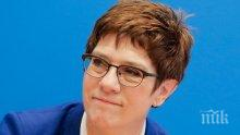 Грандиозен политически трус в Германия след оставката на лидерката на ХДС