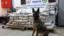 Турция задържа 2 тона канабис на границата с България