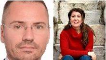 Ангел Джамбазки с поздрав и подарък за Херо Мустафа след рецитала й на Вазов - припомня й, че Македония също е българска